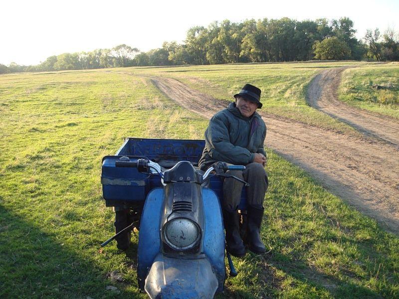 Фетисова Алина, 12 лет, о. Сарпинский г. Волгограда. Дедушка на заготовке сена весной