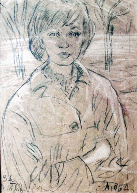 Женский портрет художника Виктора Лосева