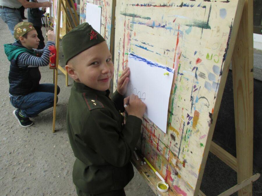 Дети Волгограда рисуют День Победы