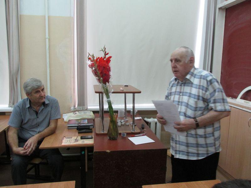 А. В. Карман в классе Ю. В. Лепихина во время Урока мужества